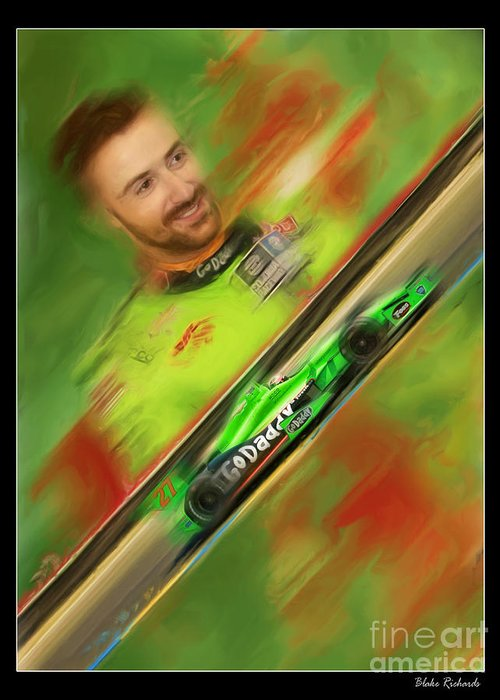 James Hinchcliffe Greeting Card featuring the photograph James Hinchcliffe by Blake Richards