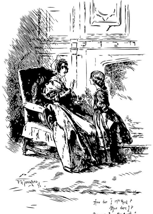 Jane Eyre Illustration Greeting Card featuring the drawing Jane Eyre Illustration by