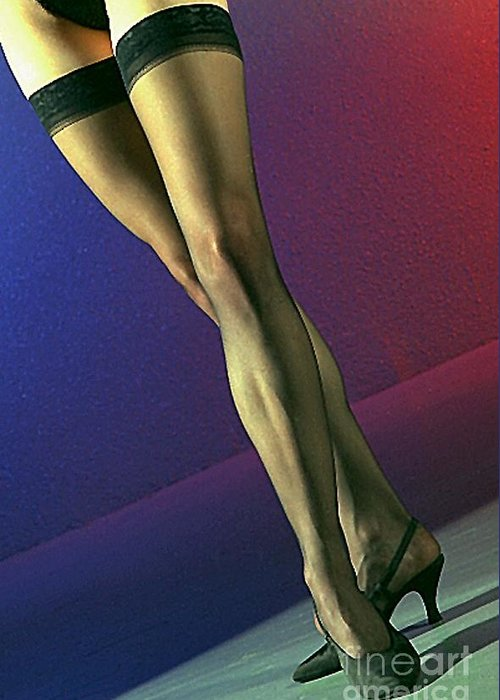Model Greeting Card featuring the photograph Jane Legs 1-1 by Gary Gingrich Galleries
