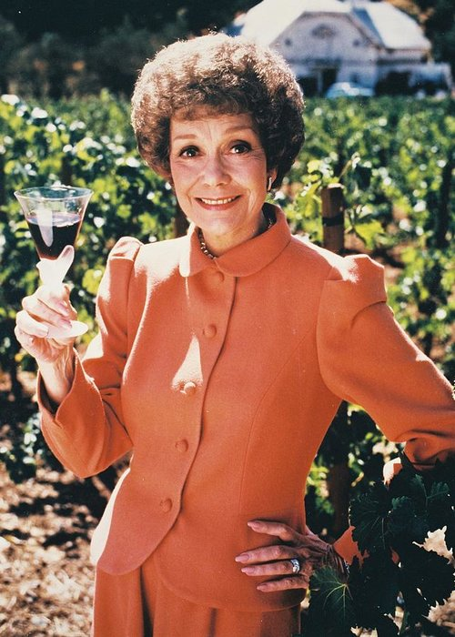 Falcon Crest Greeting Card featuring the photograph Jane Wyman In Falcon Crest by Silver Screen