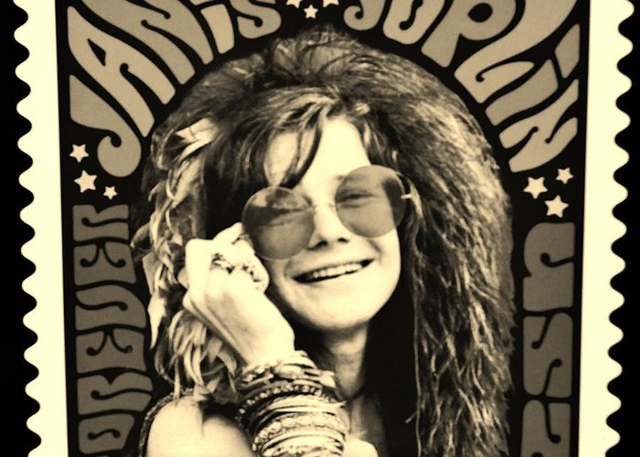 Janis Greeting Card featuring the photograph Janis Stamp In A Sepia Vibe by Rob Hans