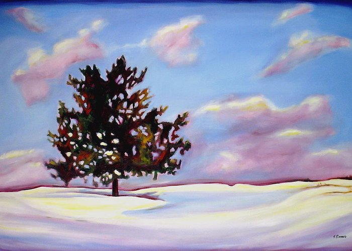 January Greeting Card featuring the painting January by Sheila Diemert