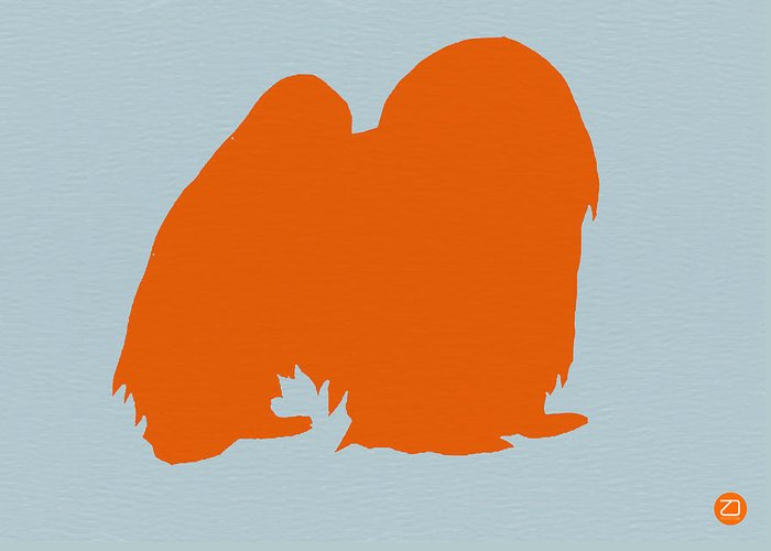 Japanese Chin Greeting Card featuring the photograph Japanese Chin Orange by Naxart Studio