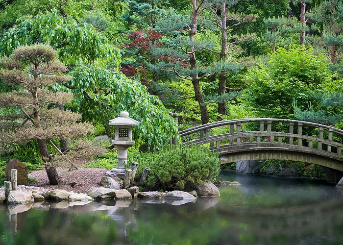 3scape Photos Greeting Card featuring the photograph Japanese Garden by Adam Romanowicz