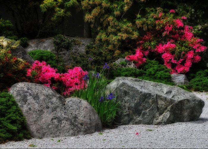 Garden Greeting Card featuring the photograph Japanese Garden by Mike Martin