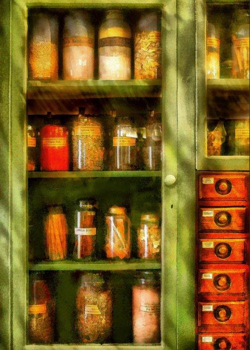 Savad Greeting Card featuring the digital art Jars - Ingredients II by Mike Savad