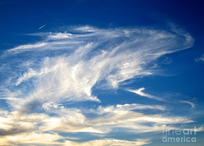 Blue Sky Greeting Card featuring the photograph Jaws And Jet Nevada Sky by Phyllis Kaltenbach