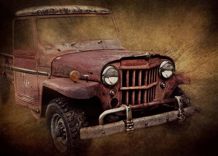 Jeep Greeting Card featuring the photograph Jeep Willys by Stephanie Calhoun