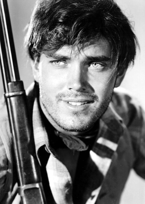 The Searchers Greeting Card featuring the photograph Jeffrey Hunter In The Searchers by Silver Screen