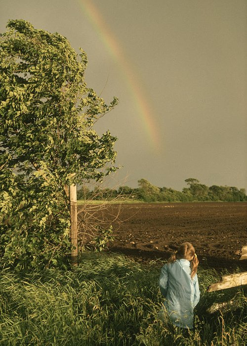 Rainbow Greeting Card featuring the photograph Jennifer's Rainbow by Bruce Thompson