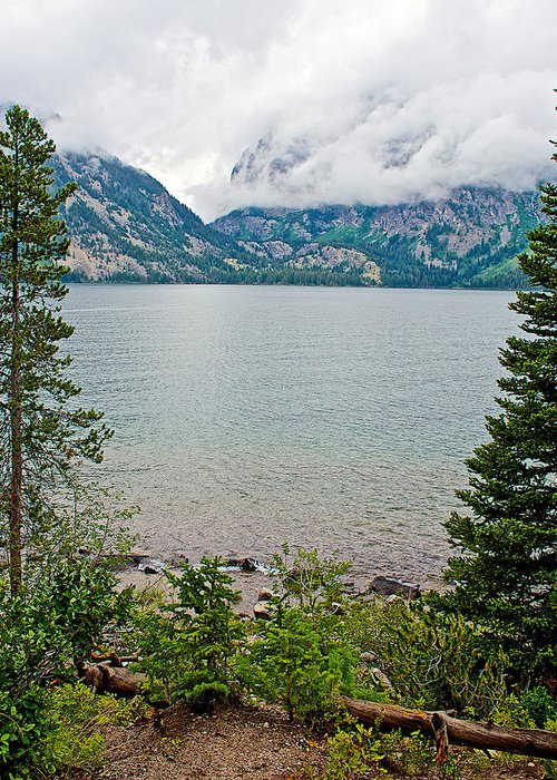 Jenny Lake In Grand Teton National Park Greeting Card featuring the photograph Jenny Lake In Grand Tetons National Park-wyoming by Ruth Hager