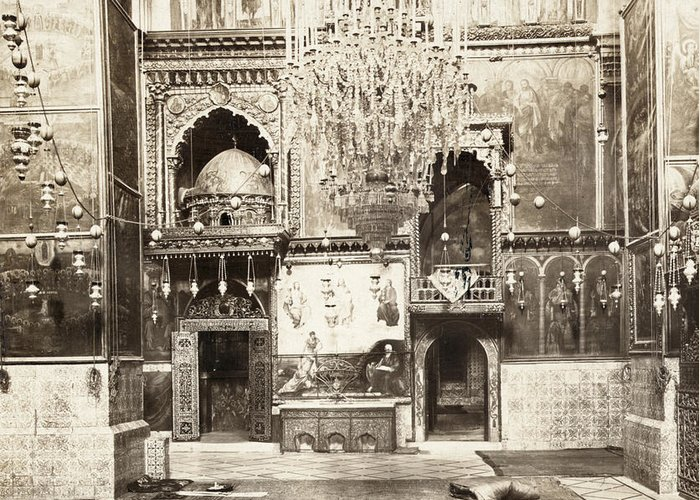 1901 Greeting Card featuring the painting Jerusalem Armenian Church by Granger
