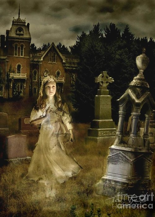 Ghost Greeting Card featuring the photograph Jessica by Tom Straub