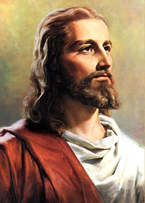 Jesus Greeting Card featuring the photograph Jesus Christ by Munir Alawi