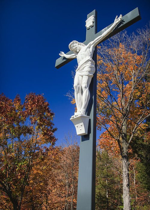 3scape Photos Greeting Card featuring the photograph Jesus On The Cross by Adam Romanowicz