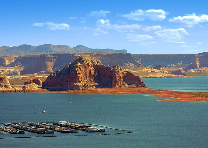 Marina Greeting Card featuring the photograph Jewel In The Desert - Lake Powell by Christine Till