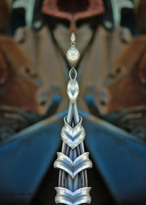 Kaleidoscope Greeting Card featuring the photograph Jewels by Sylvia Thornton