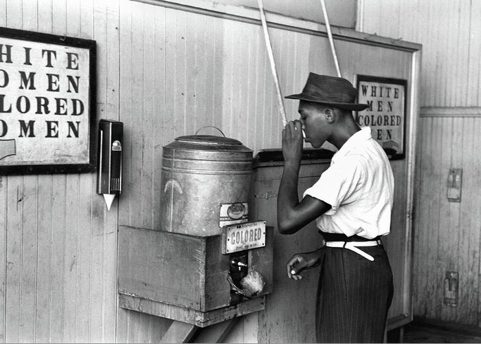 1939 Greeting Card featuring the photograph Jim Crow Laws, 1939 by Granger