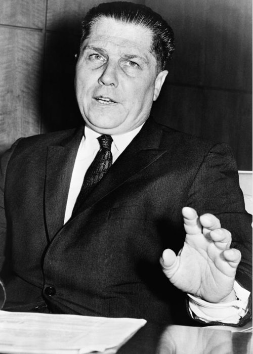 1959 Greeting Card featuring the photograph Jimmy Hoffa (1913-1975?) by Granger