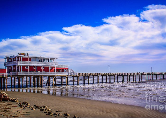 Ocean Greeting Card featuring the photograph Jimmy's Pier by Perry Webster