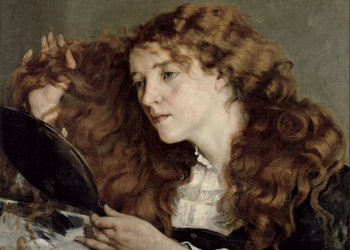 Josephine Greeting Card featuring the painting Jo The Beautiful Irish Girl by Gustave Courbet