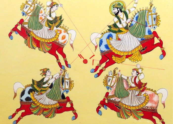 Jodhpur Greeting Card featuring the photograph Jodhpur Polo by David Rich
