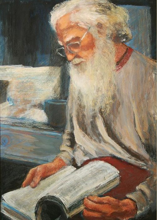 Greeting Card featuring the painting Joe by Helen Hickey