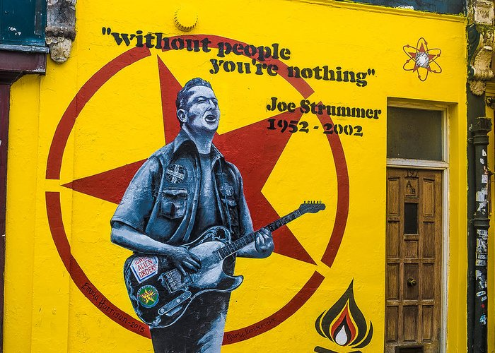 Joe Strummer Greeting Card featuring the photograph Joe Strummer Without People You're Nothing by Georgina Noronha