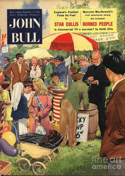 1950�s Greeting Card featuring the drawing John Bull 1956 1950s Uk Schools by The Advertising Archives