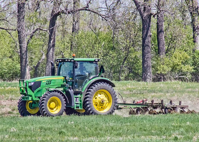 John Deere Greeting Card featuring the photograph John Deere 1 by Chad Rowe