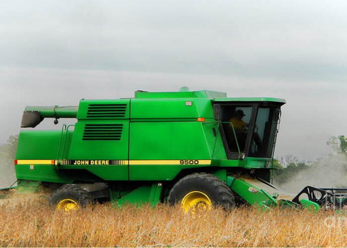 Combine Harvester Greeting Cards