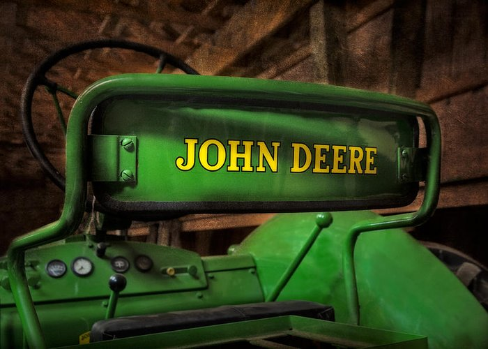 Diesel Greeting Card featuring the photograph John Deere Tractor by Susan Candelario
