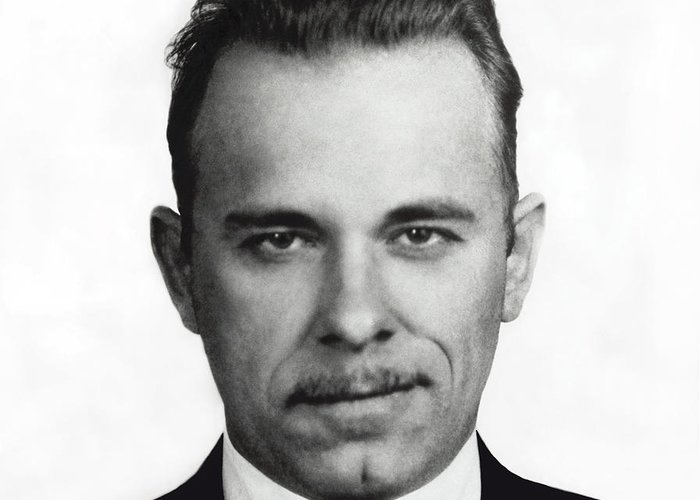 Dillinger Greeting Card featuring the photograph John Dillinger Mugshot by Daniel Hagerman