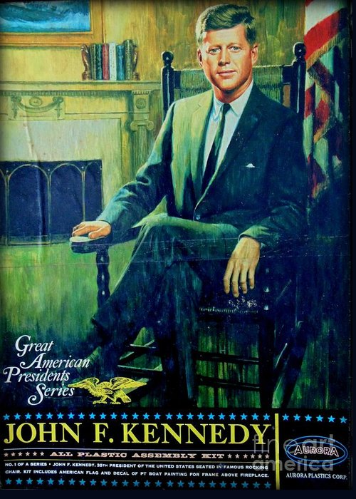 American President Greeting Card featuring the photograph John F Kennedy by John Malone