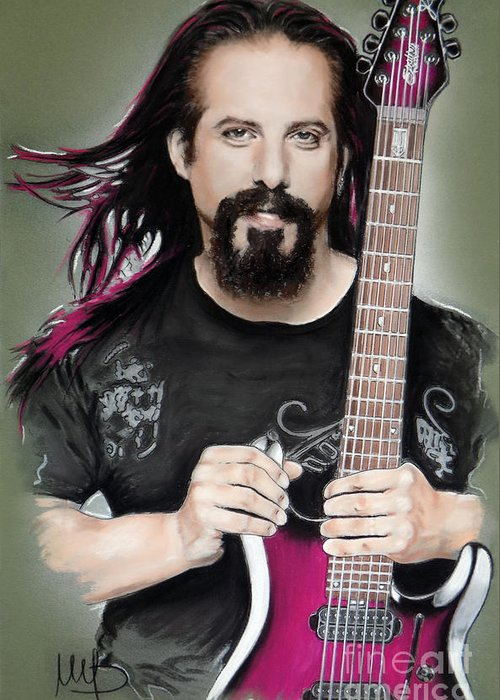 John Petrucci Greeting Card featuring the mixed media John Petrucci by Melanie D