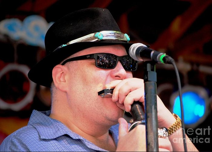 Music Greeting Card featuring the photograph John Popper by Angela Murray