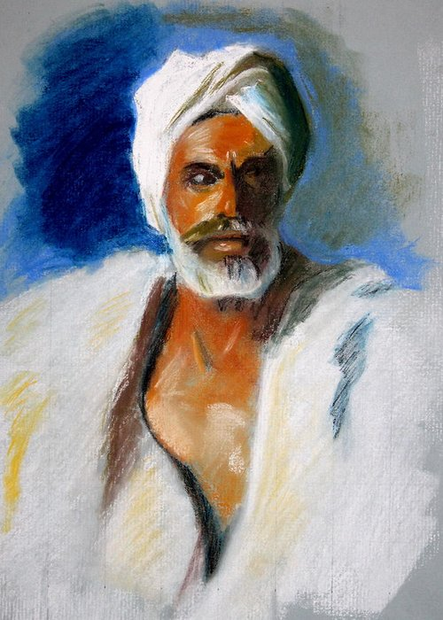 John singer sargent head of an arab greeting card for sale by john sargent portrait arab study turban greeting card featuring the drawing john singer m4hsunfo