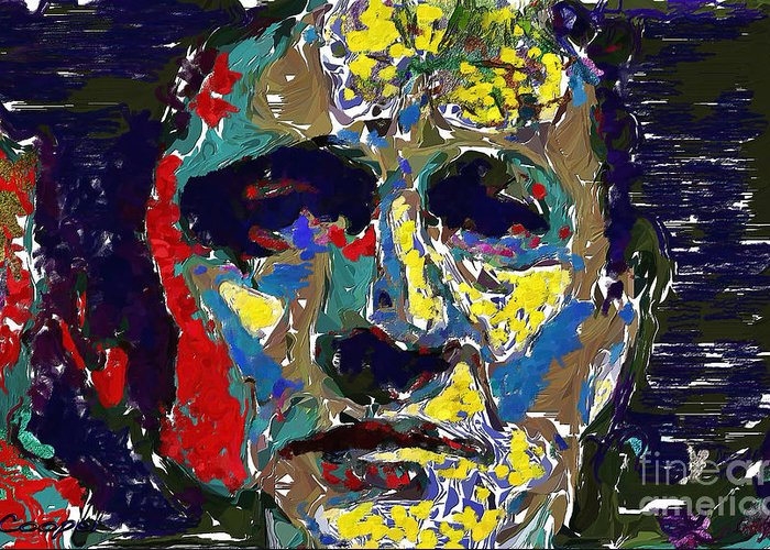 Johnny Cash Oil Abstract Digital Art By Max Cooper