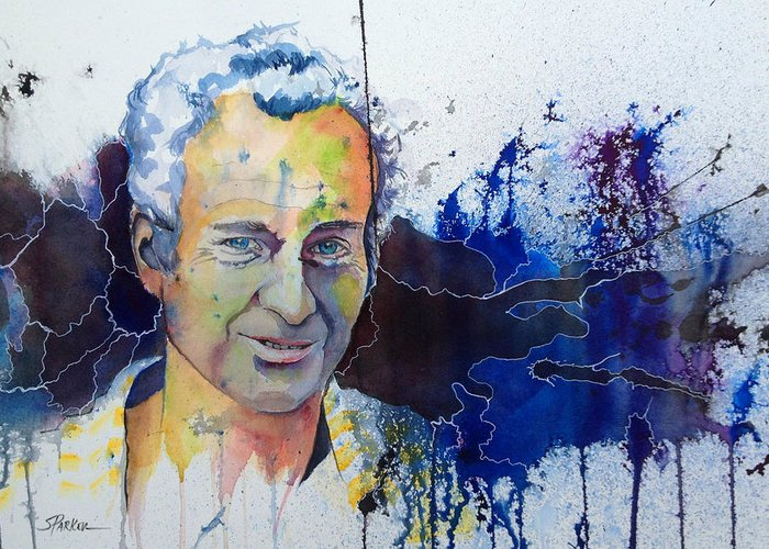 John Mcenroe Greeting Card featuring the painting Johnny Mac by Scott Parker