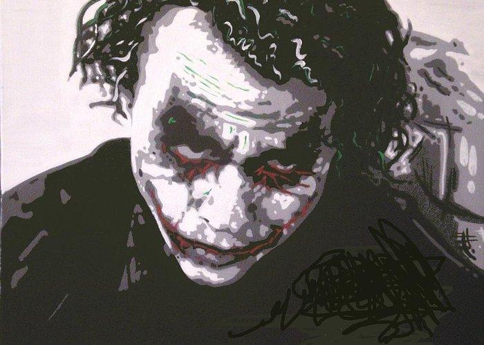 Joker greeting card for sale by davide farina joker greeting card featuring the painting joker by davide farina m4hsunfo