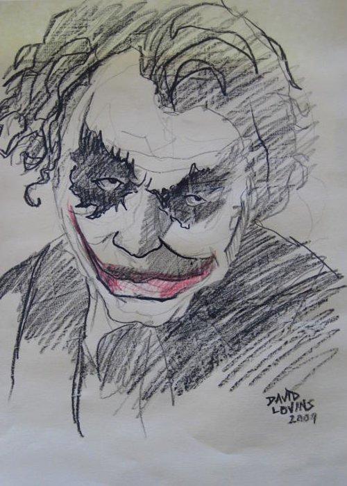Joker Loose Pencil Sketch Greeting Card
