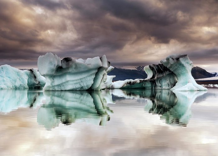Scenics Greeting Card featuring the photograph Jokulsarlon, Iceland by Gunnar Örn Árnason