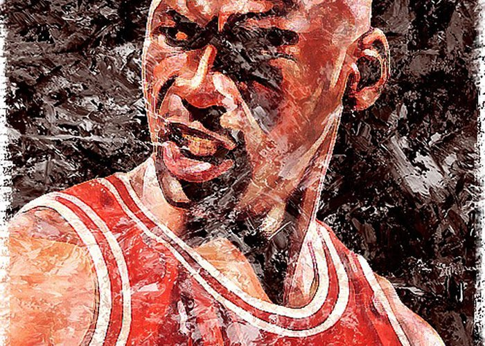 Jordan The Best Greeting Card featuring the digital art Jordan The Best by Victor Arriaga