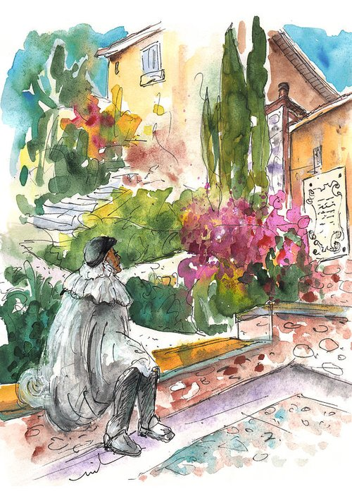 Travel Greeting Card featuring the painting Jose Ledesma Criado In Salamanca by Miki De Goodaboom