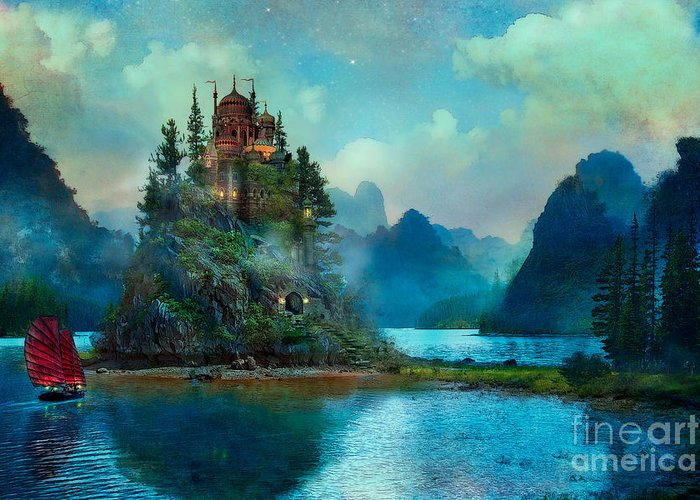 Aimee Stewart Greeting Card featuring the digital art Journeys End by MGL Meiklejohn Graphics Licensing