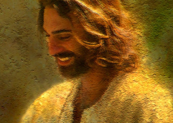 Jesus Greeting Card featuring the painting Joy Of The Lord by Greg Olsen