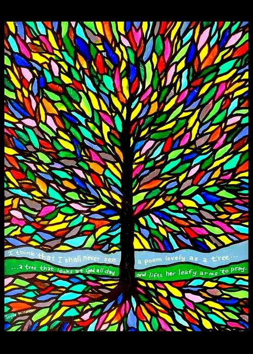 Joyce Kilmer Greeting Card featuring the painting Joyce Kilmer's Tree by Jim Harris