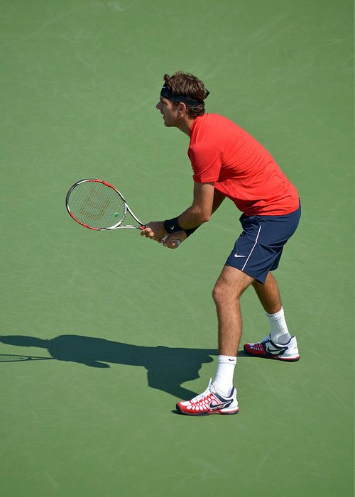 Tennis.us Greeting Card featuring the photograph Juan Martin Del Potro by Maria isabel Villamonte