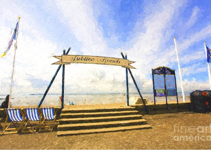Jubilee Beach Greeting Card featuring the photograph Jubilee Beach Southend On Sea by Sheila Smart Fine Art Photography