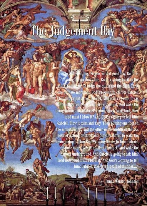 Bible Greeting Card featuring the digital art Judgement Day by Jason Crampton